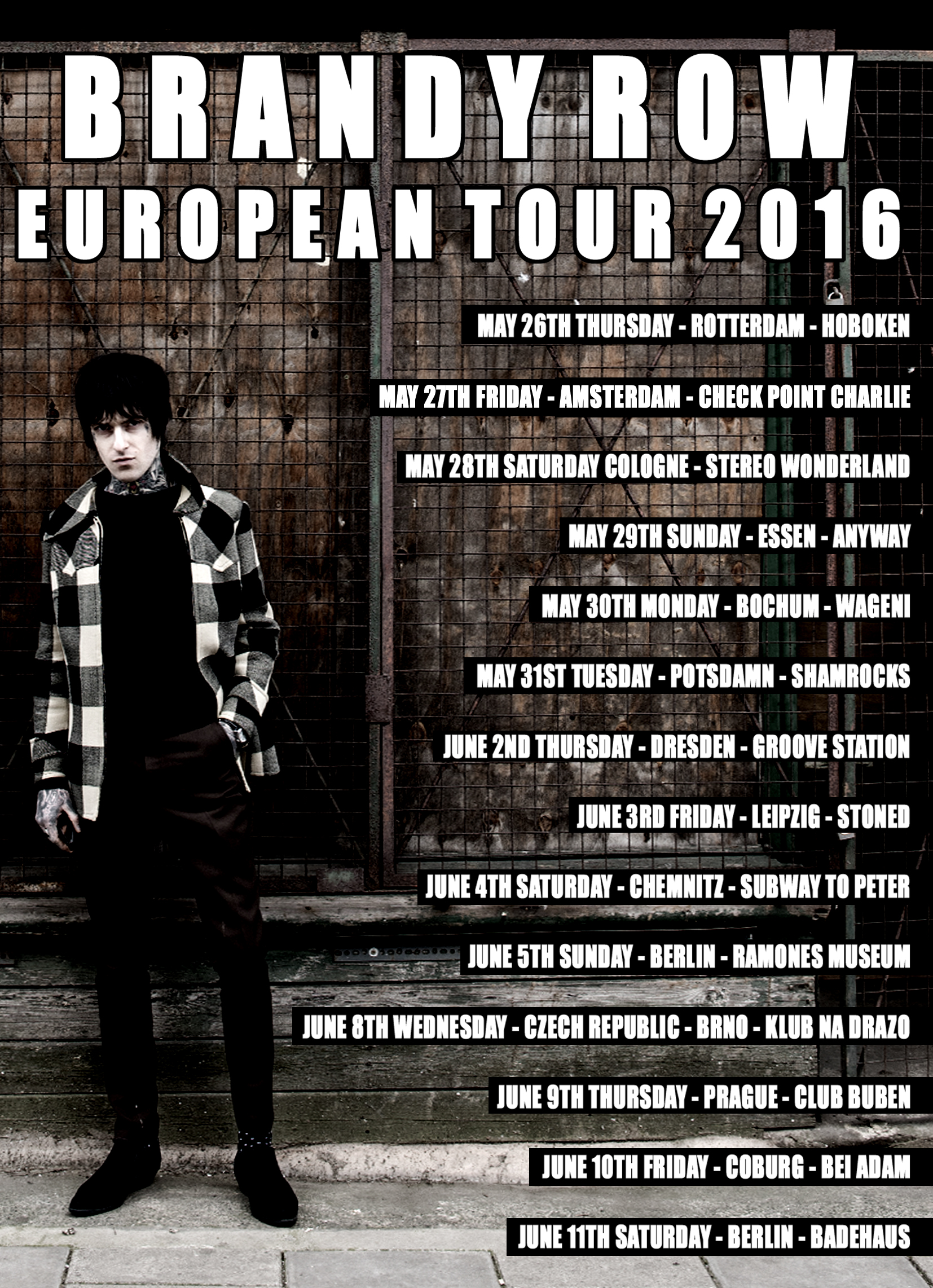The final date of the European Tour has now been confirmed – The 27th In Amsterdam @ Checkpoint Charlie