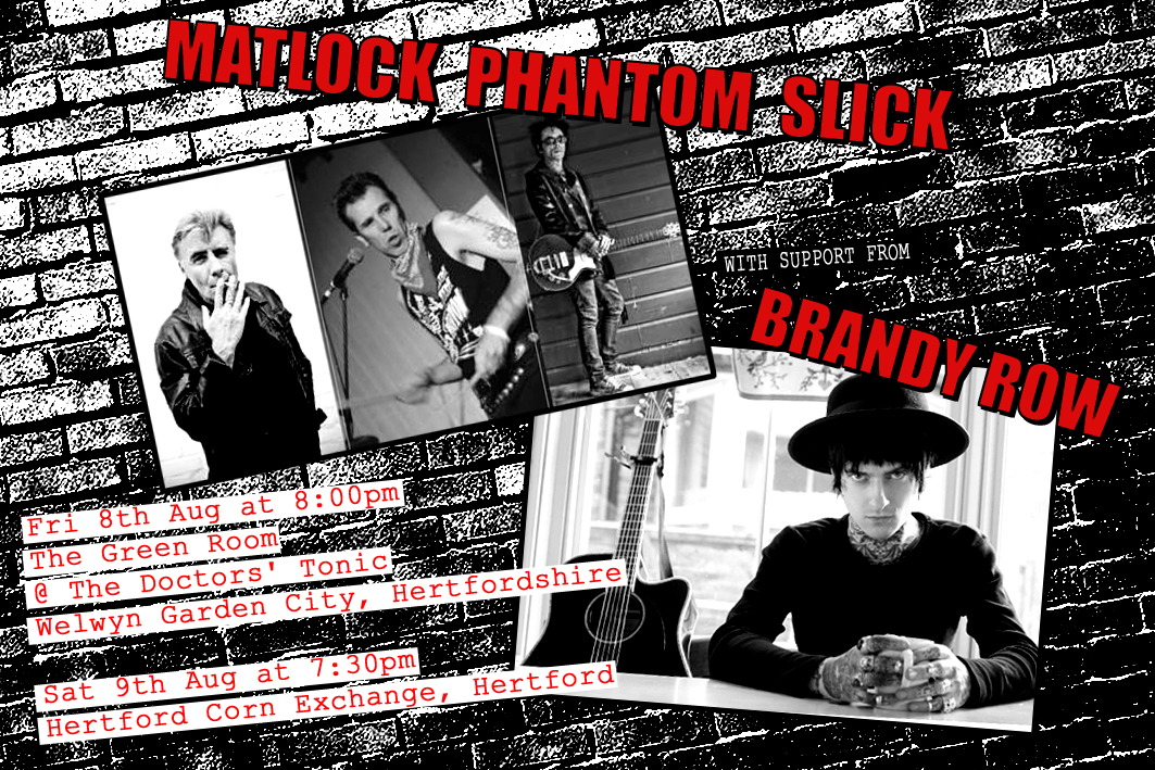 I Shall be sharing a stage with Glen Matlock in Aug