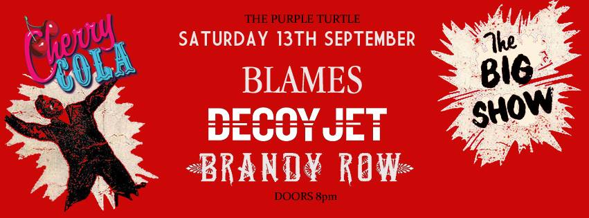 THIS SATURDAY AT THE PURPLE TURTLE LAST UK SHOW BEFORE THE CONSOLIDATED TOUR STARTS