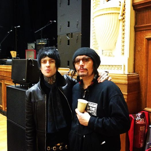 Brandy Row And Adam Ant after the show