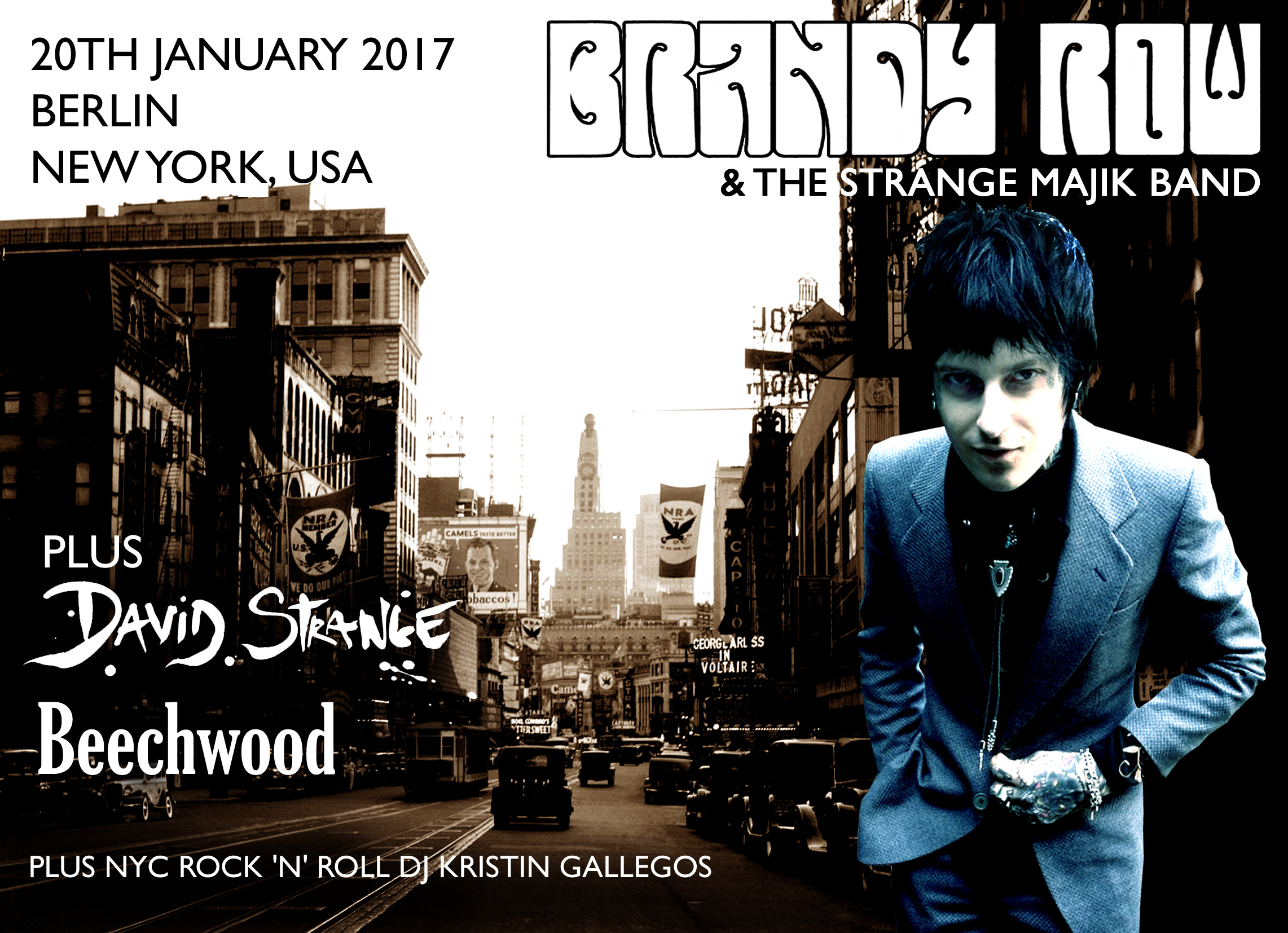 The line up is complete for the 20th Jan In NYC!