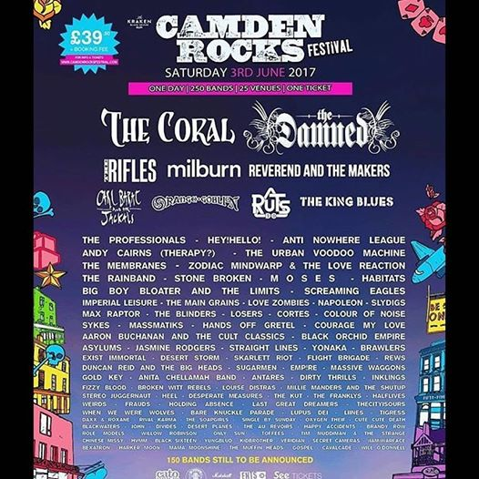 Very Happy to announce i will be performing at this years Camden Rocks festival on June 3rd!