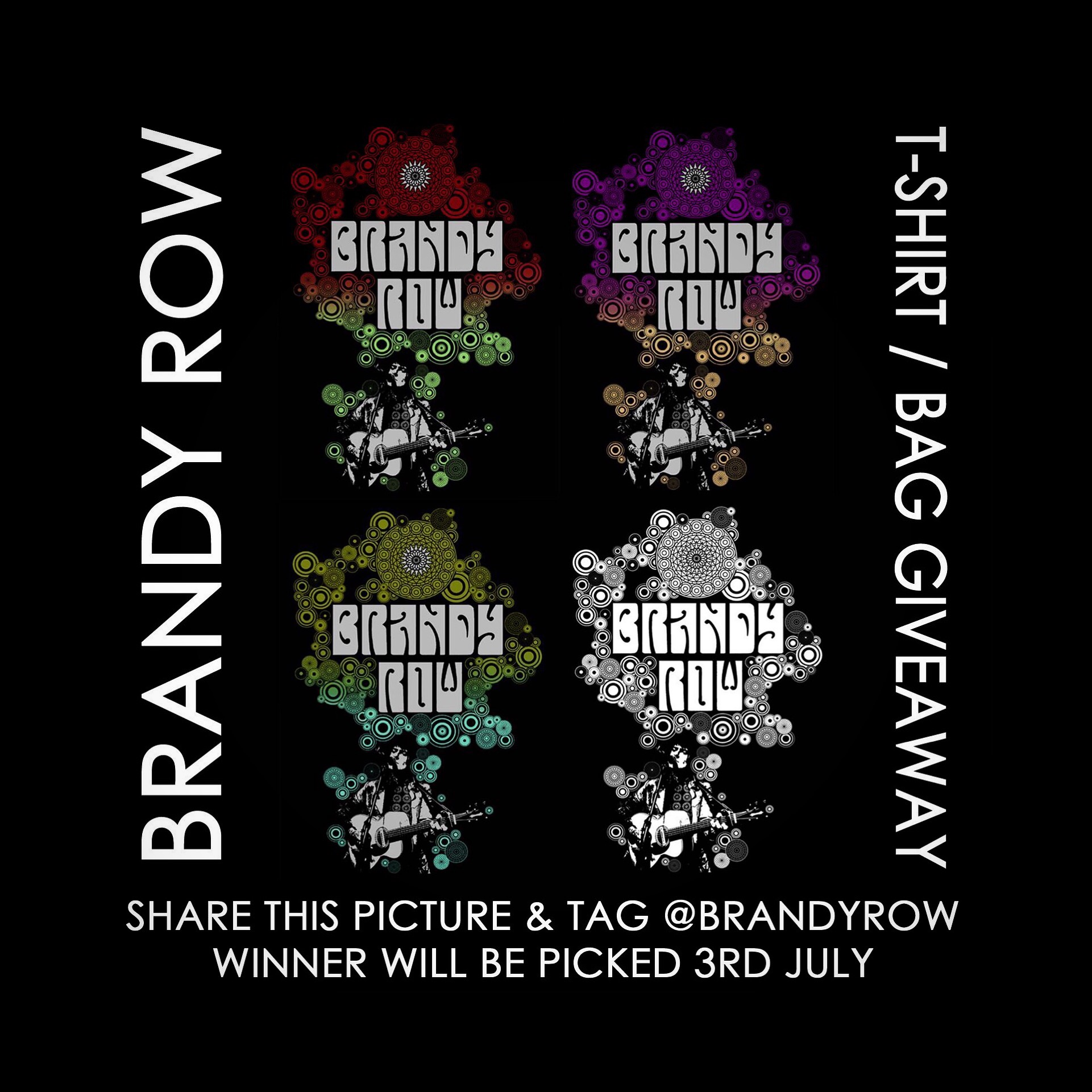 News flash! I'll be releasing my brand new t-shirts and bags next Monday the 3rd! To celebrate there will be a free t-shirt (in any colour of your choice) and bag giveaway to the lucky winner where you shall be in the world! So all you gotta do is share this pic on instagram and tag @brandyrow #art #performer #brandy